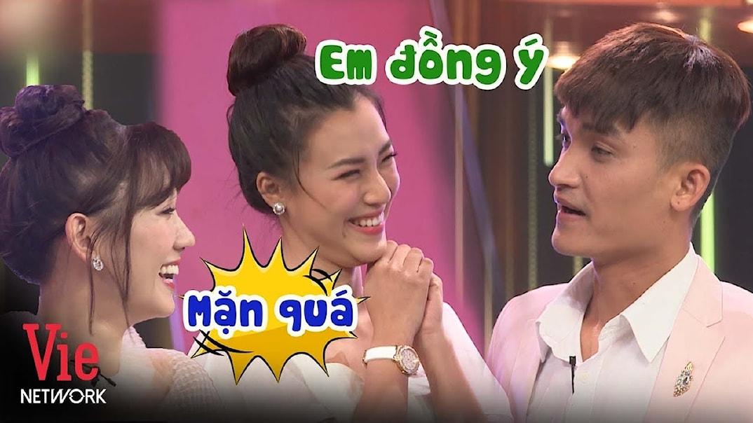 Hari Won cười xỉu với thính SIÊU MẶN của Mạc Văn Khoa với Hoàng Oanh